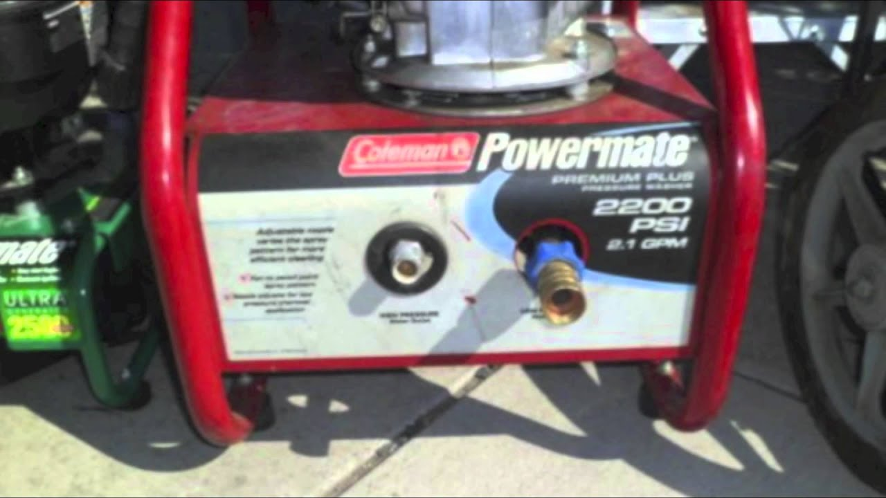 Top Coleman Mate Pressure Washer Units From 1200 And 2400 Psi To 2750 Washers