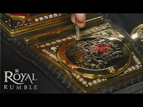 Triple H's custom plates are applied to the WWE World Heavyweight Title: January 25, 2016