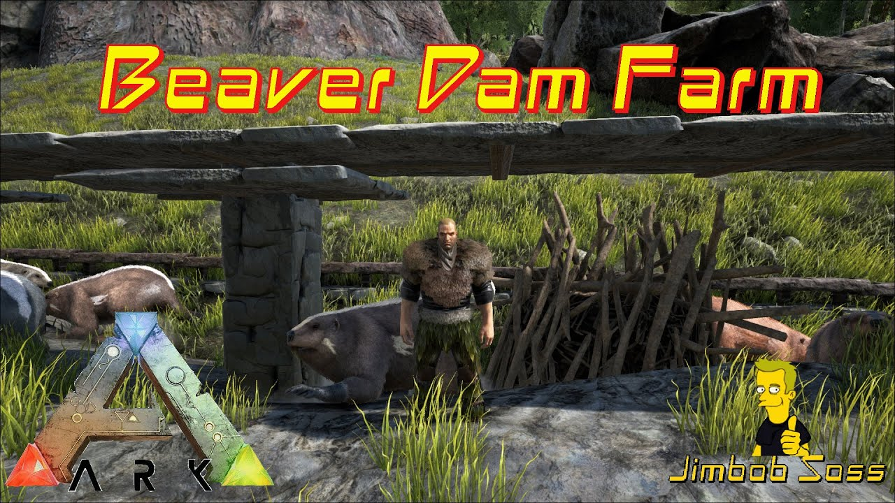 how to get tamed beaver ark to build dam