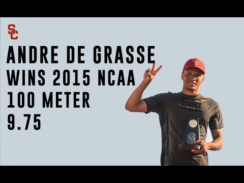 USC Track & Field - Andre De Grasse Wins NCAA 100m