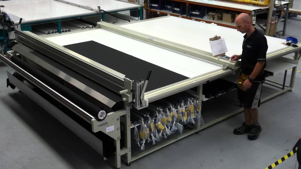 Quality Raytech R3100 Cutting Table for Roller Blinds ...