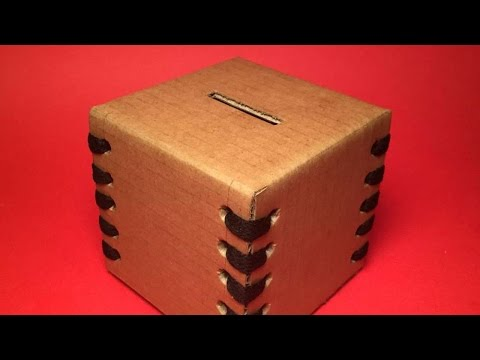 How To Make A Cool Cardboard Money Box - DIY Crafts Tutorial - Guidecentral