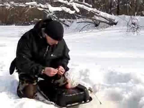 ловля ленка в марте видео
