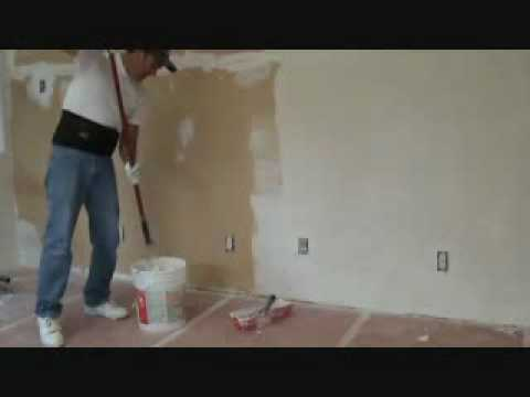 Applying all purpose joint compound with a paint roller YouTube