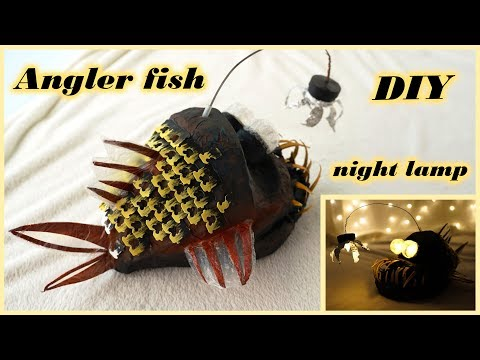 DIY ANGLERFISH Night Lamp | Paper Crafts | Best Out Of Waste