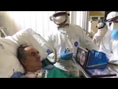 Rivoli, l'abbraccio di Eros Ramazzotti al malato di coronavirus: 'Dai, Flavio, ce la facciamo'
