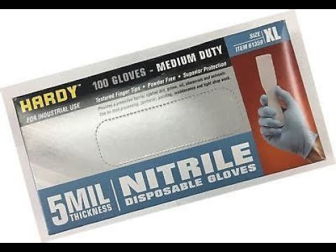Harbor Freight  5 MIL nitrile gloves-very good