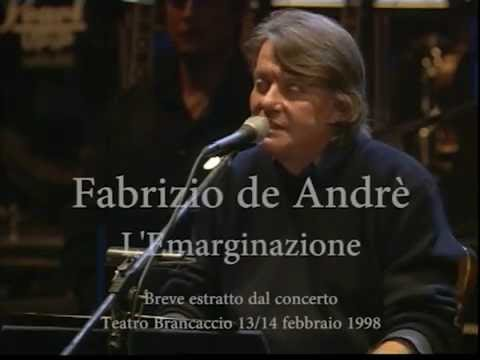 Fabrizio De Andrè -  L'Emarginazione