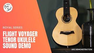 Flight Voyager Tenor EQ-A Ukulele (Royal Series) Sound Demonstration