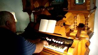 """Story and Clark """"Butterfly"""" Pump Organ - 1895 - The Old Rugged Cross"""