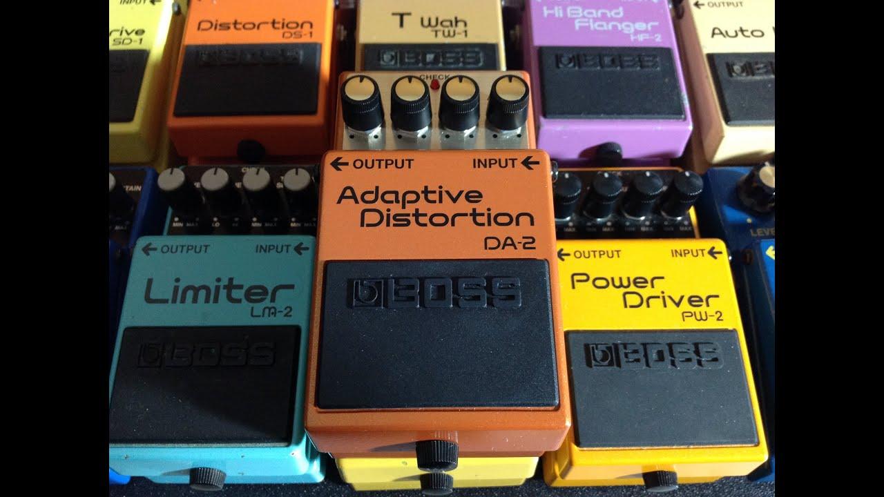 boss pedal review 46 da 2 adaptive distortion youtube