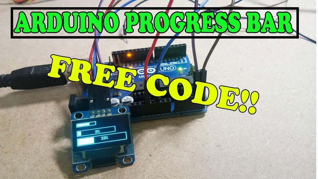 Arduino and OLED I2C 128x64 Progress bar FREE CODE