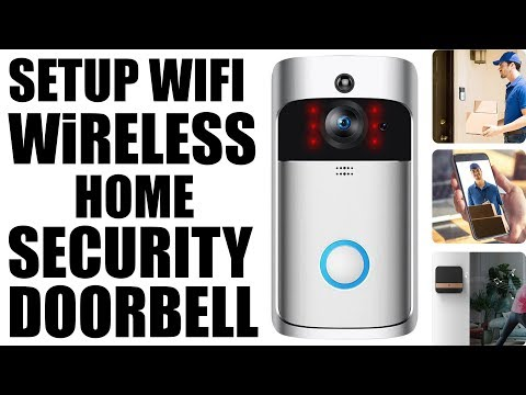 How To Setup Wifi Wireless Home Securiry Doorbell With (XSH) Cam Android & Iphone 720p Night Vision