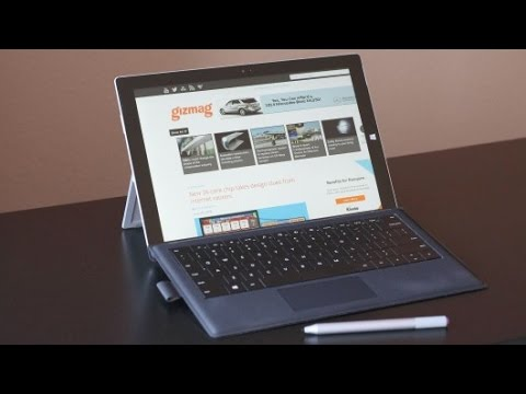 Microsoft Surface Pro 3, Leather Case and Surface Keyboard