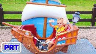 Vlad e Nikita aventuras no parque - Compilação de vídeos para crianças