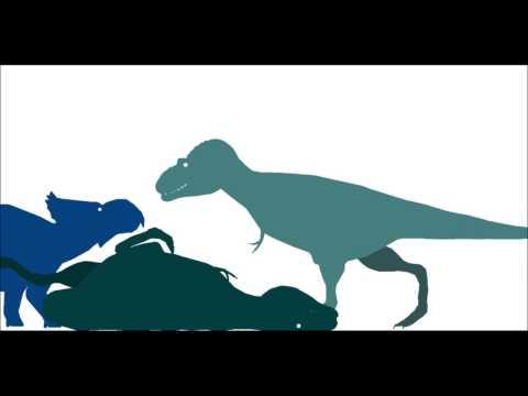Lythronax vs Pachyrhinosaurs