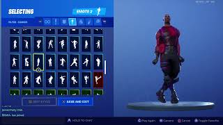 Fortnite 'Radiant Striker' Skin Showcased with 175+ Dances (with Scenario emote !) | Season 9