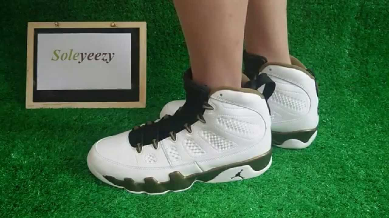 a793d2a85dd4dc Air Jordan 9 Copper Statue On Foot Show HD Review BY soleyeezy - YouTube