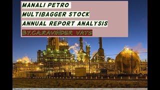 Multibagger stock -MANALI PETRO- ANNUAL REPORT-2018-19  ANALYSIS by CA Ravinder Vats