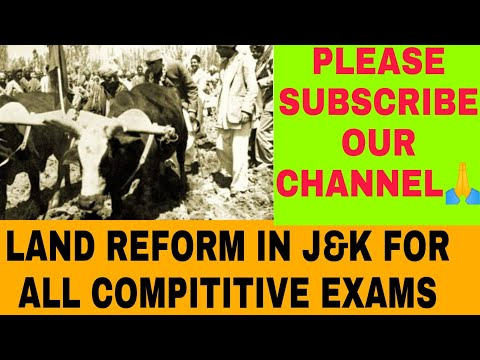Land reforms in j&k