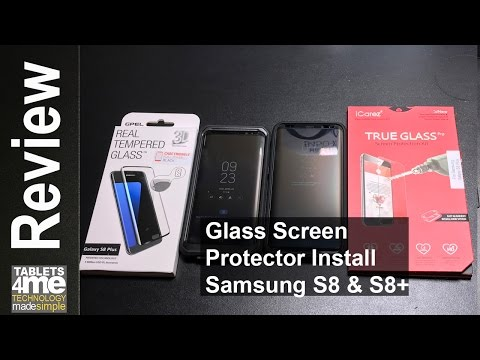 Case friendly glass screen protectors for the Samsung S8 and S8 Plus