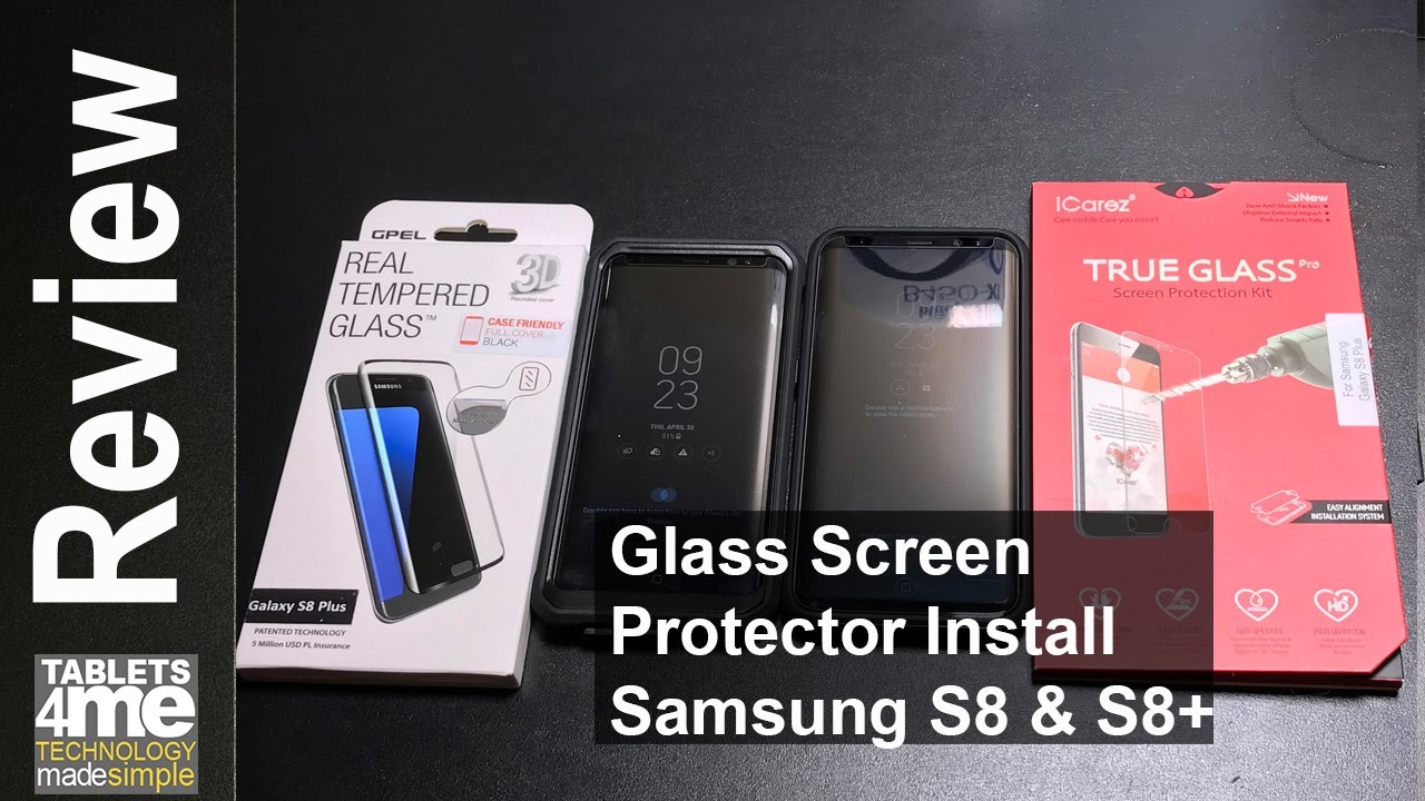 premium selection cac45 3912a Case friendly glass screen protectors for the Samsung S8 and S8 Plus