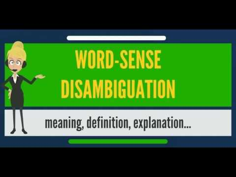 What Is Word Sense Disambiguation What Does Word Sense