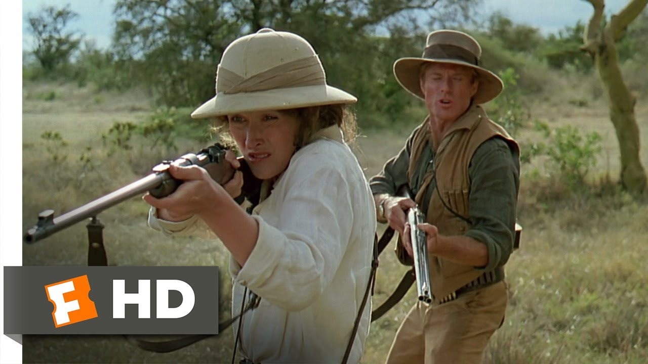 Image result for out of africa lion charge