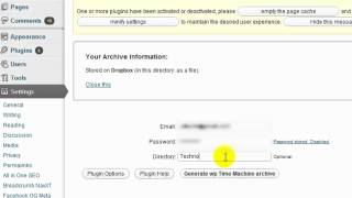 Backup Your Wodpress Blog Database, Files to Dropbox