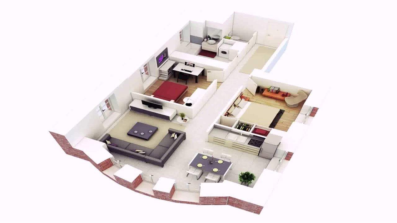 Low Cost 2 Bedroom House Plans 3d See Description Youtube