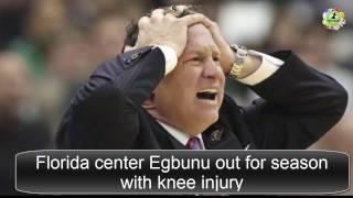 florida center egbunu out for season with knee injury