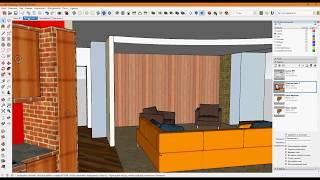 SketchUp 18 Подготовка модели для переноса в LayOut