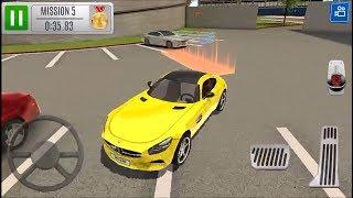 Multi Level 7 Car Parking Garage Park Training Lot // Araba Park Etme Oyunu