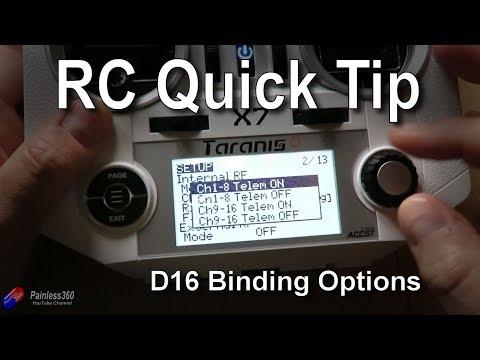 OpenTX Quick Tips: D16 Bind Options Becoming Standard in OpenTX 2.2.1
