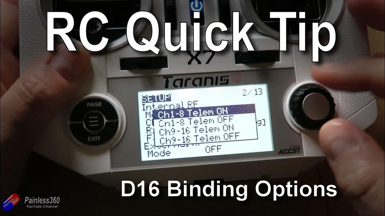 OpenTX Quick Tips: D16 Bind Options Becoming Standard in OpenTX 2 2 1