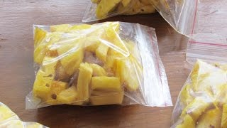 How To Freeze Pineapple - How To Freeze Fruit For Smoothies - How To Make Frozen Fruit