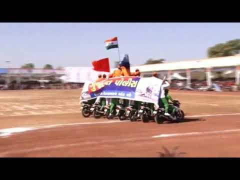 Gujarat police bike stunt team Palnpur 26 January Palnpur 2019
