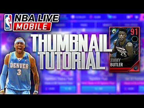 HOW TO MAKE NBA LIVE MOBILE THUMBNAILS (PHOTOSHOP)