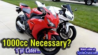 Is 1000cc Liter Bike Necessary? 1 Year Later | MotoVlog