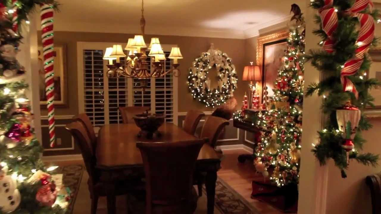 christmas home tour - Homes Decorated For Christmas On The Inside