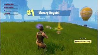 Luckiest Fortnite battle royale win ever