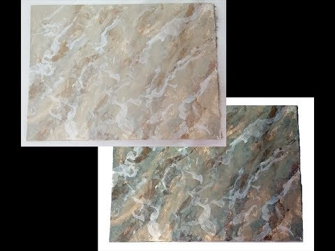 Faux Marble Paint Techinque