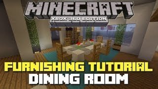 Minecraft Xbox 360: Furniture Tutorial and Ideas! (Dining Room)