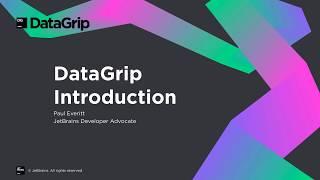 DataGrip Введення
