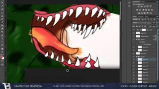 Dinosaurio de dibujos animados YouTube BG - Speed Art