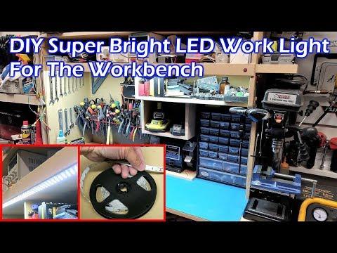 DIY Super Bright LED Light Strip Work Light For Workbench