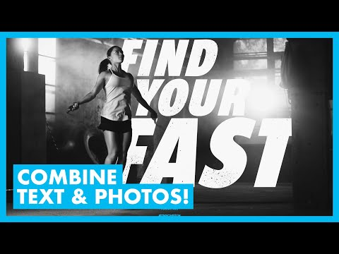 Text and Photo Composition and Layout with Photoshop (GRAPHIC DESIGN) thumbnail