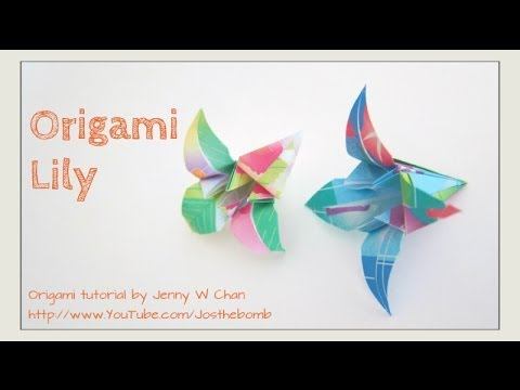 DIY How to Make Easy Origami Lily Flower - Thaitrick | 360x480