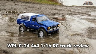 WPL C24 4x4 1/16 RC truck unboxing, review and test