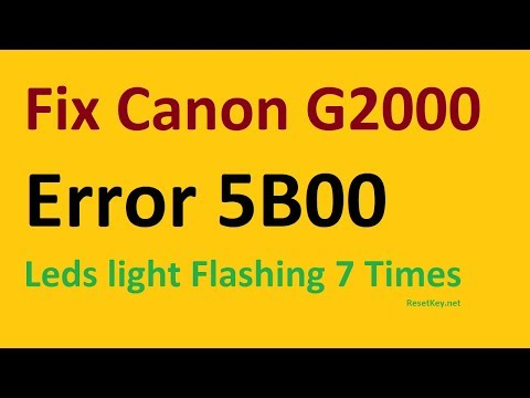 Free download Canon G2000 Resetter – How to get G2000 reset